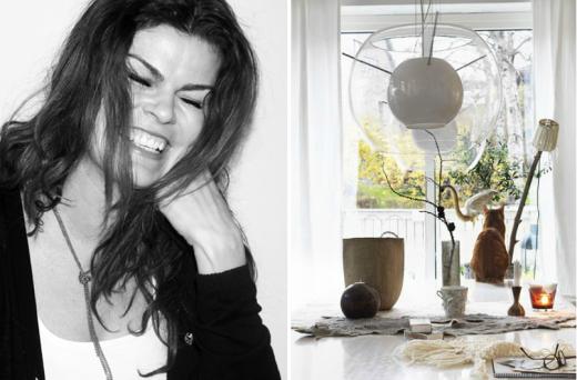 Benedikte fotad av Emilie Ugland Eide, och ett hem fotat av Benedikte för Sköna hem.