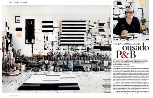Första uppslaget i brasilianska Casa Vogue.