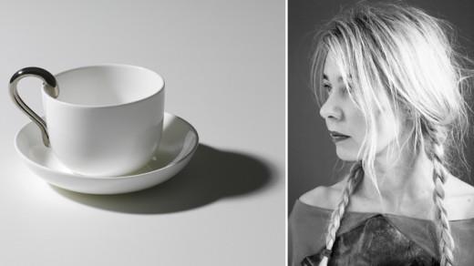 Anna Kraitz och nya muggen Mine för Designhouse Stockholm. Foto: Pressbilder