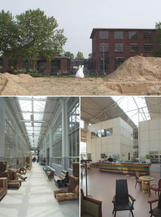 Bilder från Piet Hein Eeks gamla fabrik som numera är showroom, restaurang med mera.