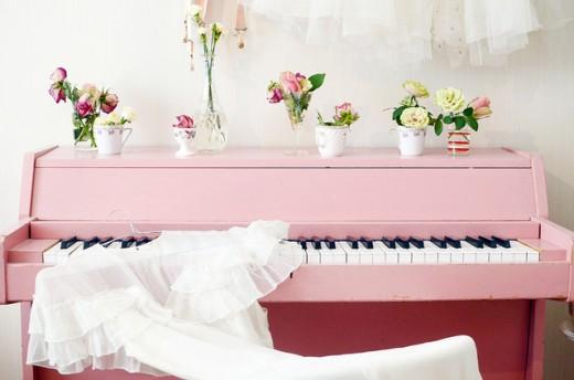 Drömpianot i rosa. Foto: Elsa Billgren