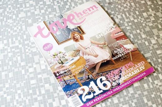 Förra sommaren syntes Elsa och hennes lägenhet i tidningen Tove hem & trädgård. Foto: Elsa Billgren