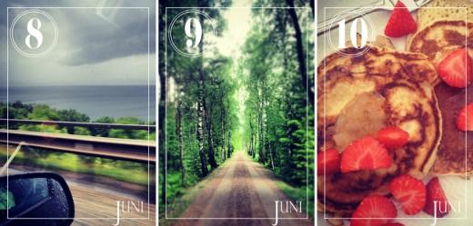 En helg i vackra Småland blev det i början av månaden. Ösregn längs Vättern på vägen dit, en ljuvlig skogspromenad och sen lite amerikanska pannkakor när vi kom hem igen.