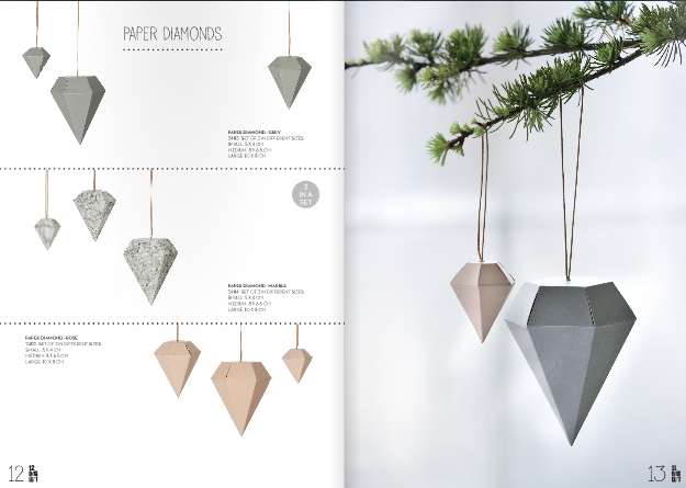 Paper diamonds by Ferm living – Husligheter.se.
