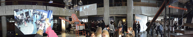 Presslunchen ägde rum på bottenplanet av den före detta gymnasieskolan. Alla foton: Maria Soxbo/Husligheter.se