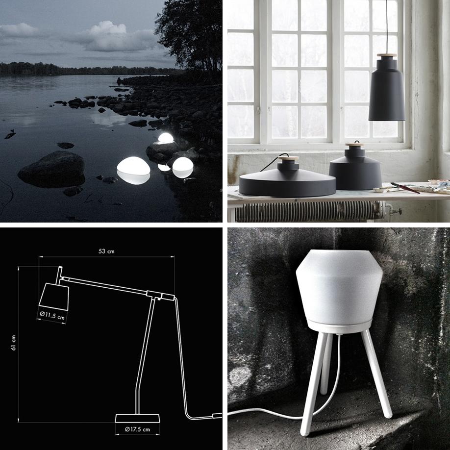 Några av svenska Calabazs olika lampor. Foto: pressbilder