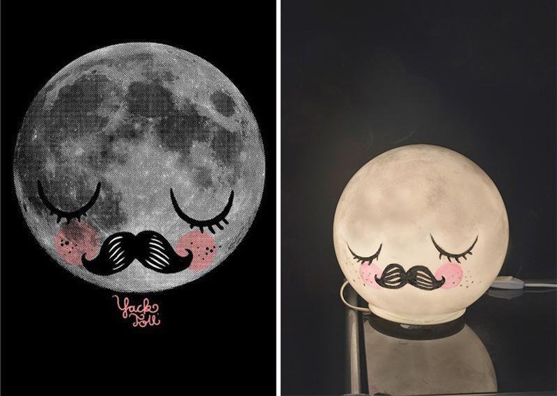 Moon für Neil and IKEA hack (Fado lamp) by Mommo design – Husligheter.se