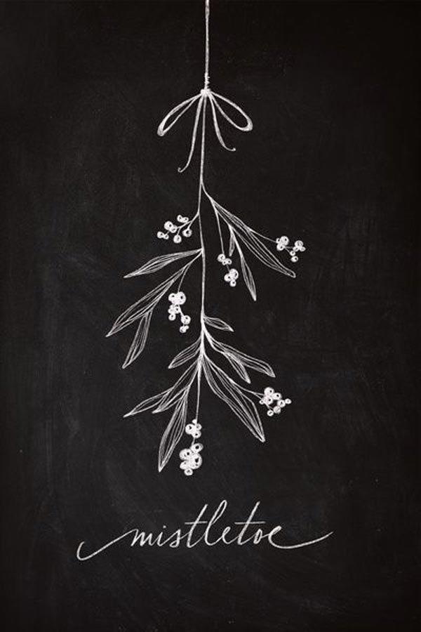 Mistletoe chalkboard – Husligheter