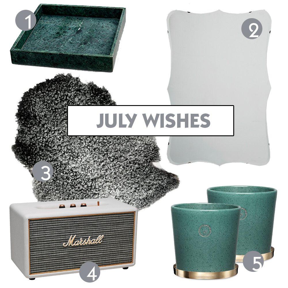 Önskelista juli – Husligheter