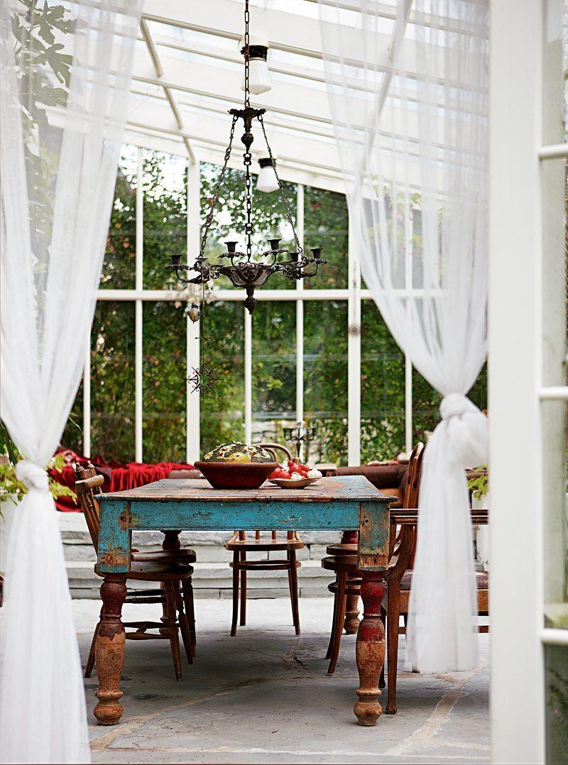 Orangeri i Peter Gehrkes sommarhus på Gotland – Husligheter