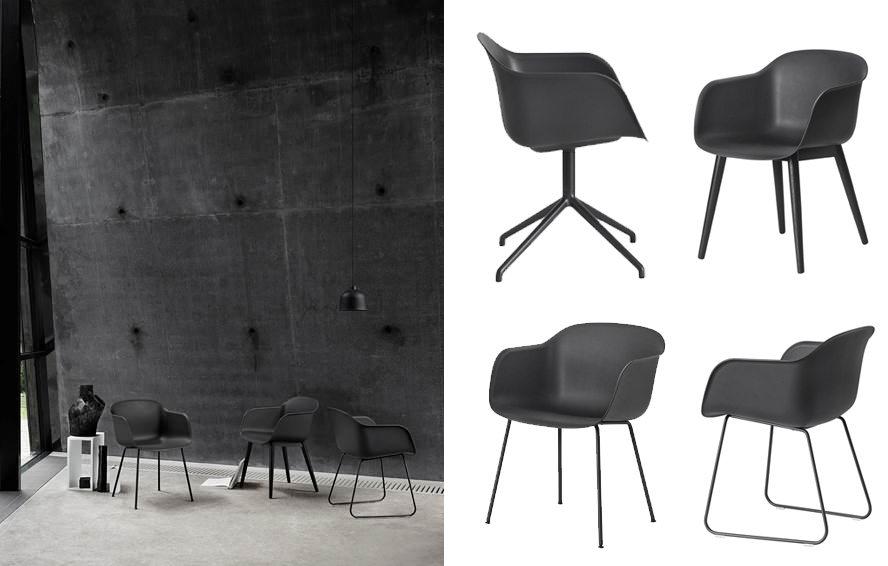 Muuto Fiber Chair black – Husligheter