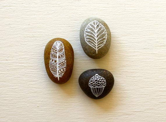 Målade stenar – Husligheter