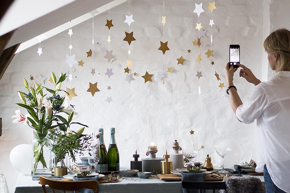 Nyårsdukning. Styling Emma Aspelin assistent Elin Wallin foto: Maria Soxbo/Husligheter