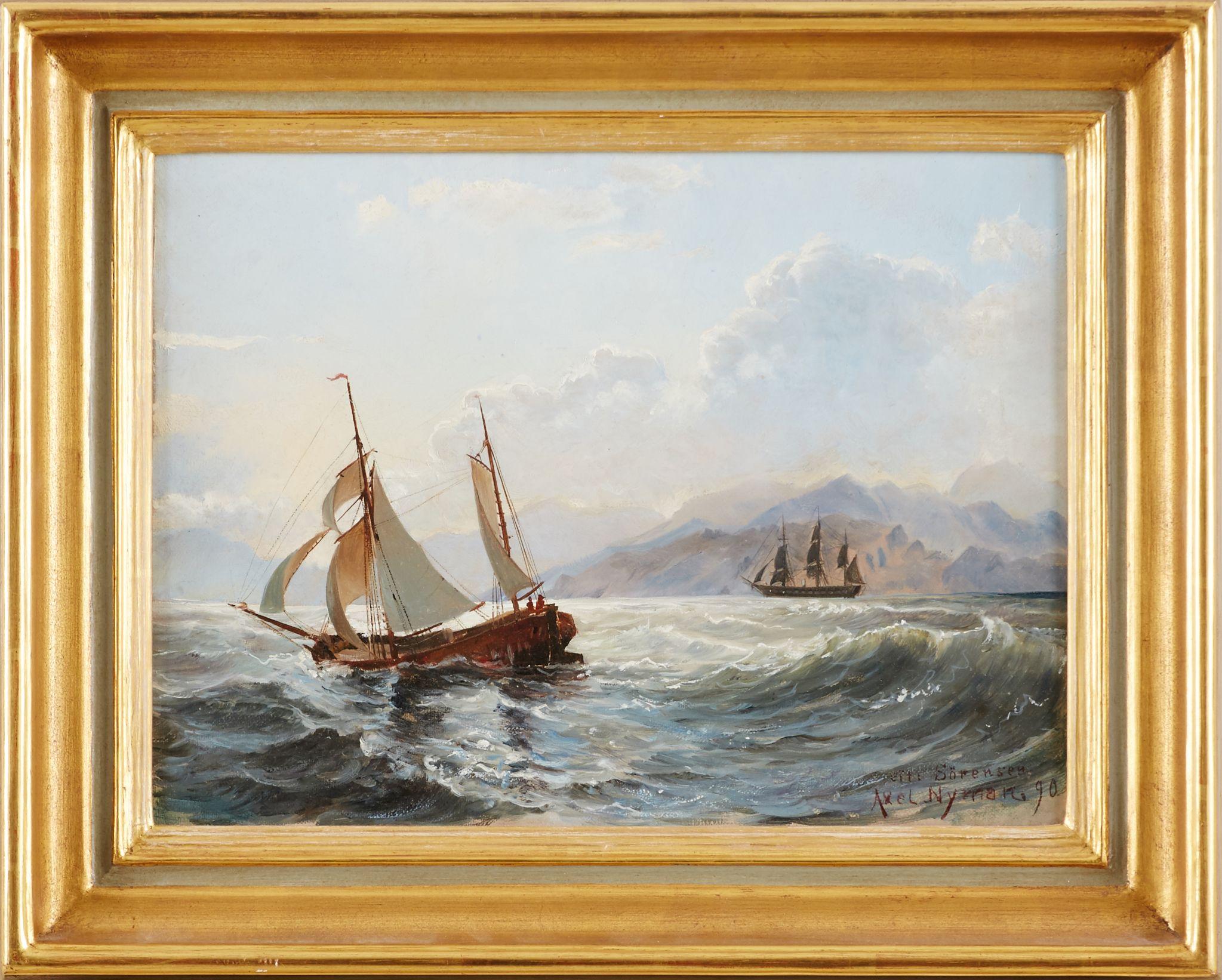Oljemålning Axel Nyman Auktionsverket – Husligheter