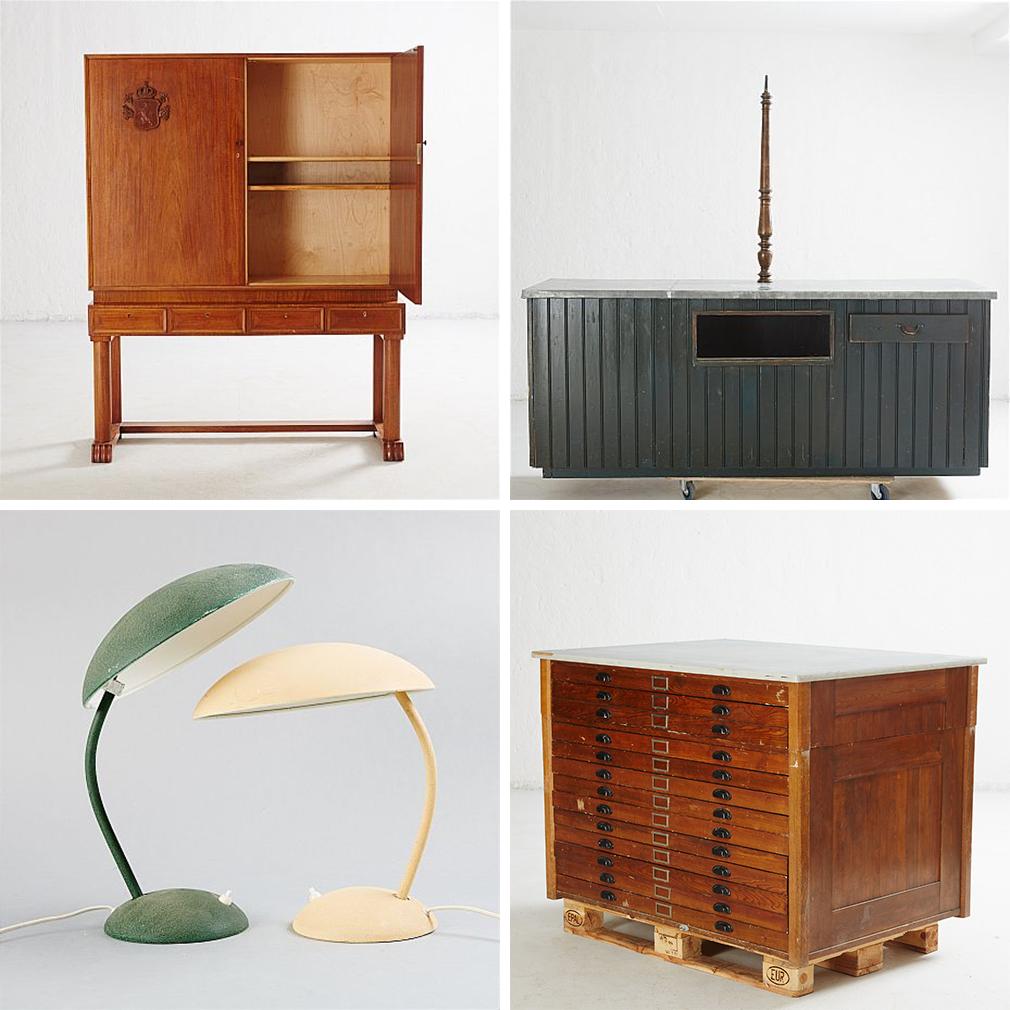 Möbler från Tullverket – Stadsauktion – Husligheter