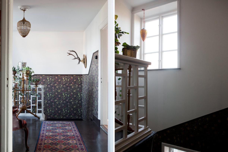 Tapeter och vitrinskåp på Villavägen 3, Åkarp (Bolaget) – Husligheter