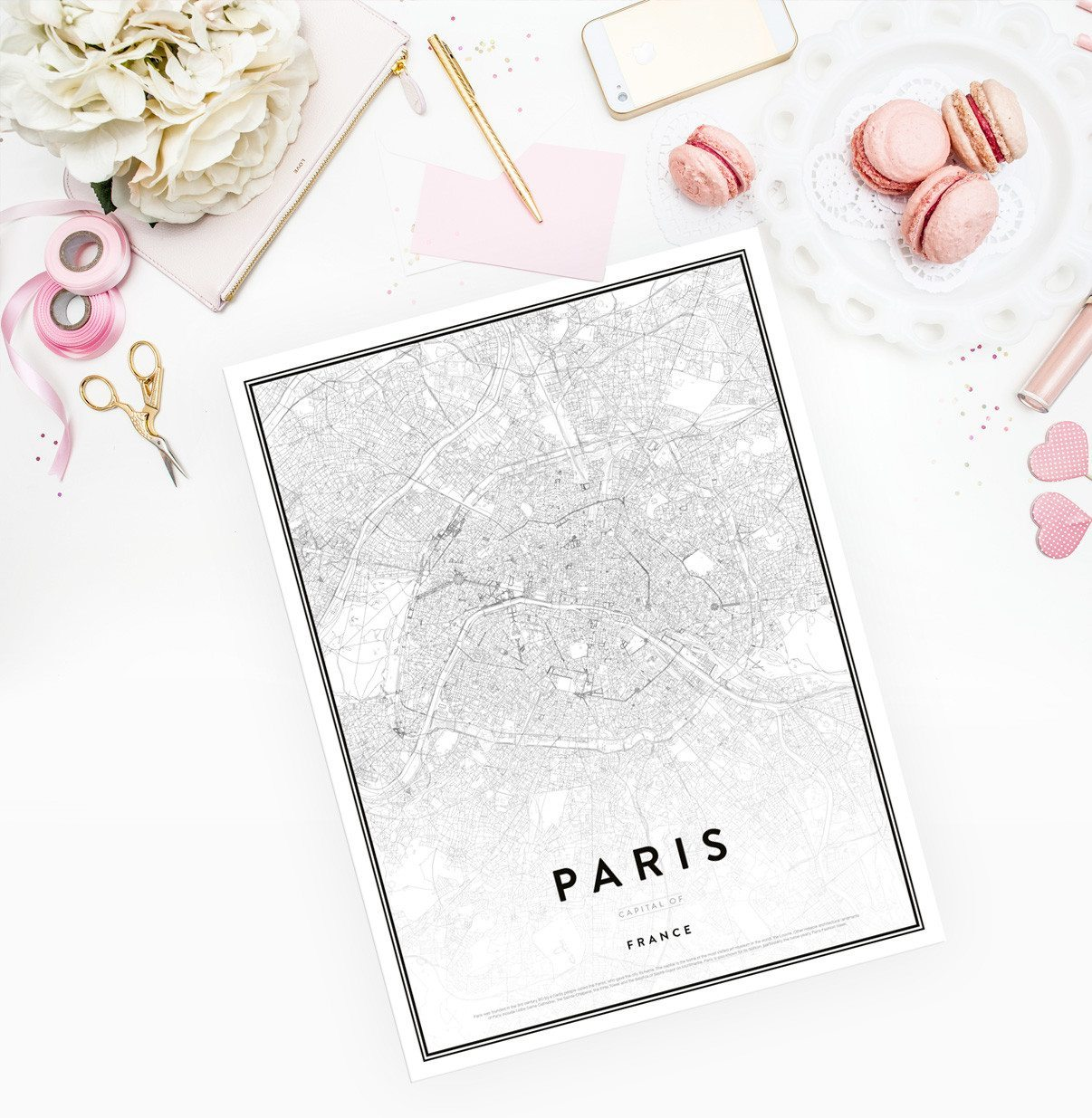Paris karta – Posterstore.se