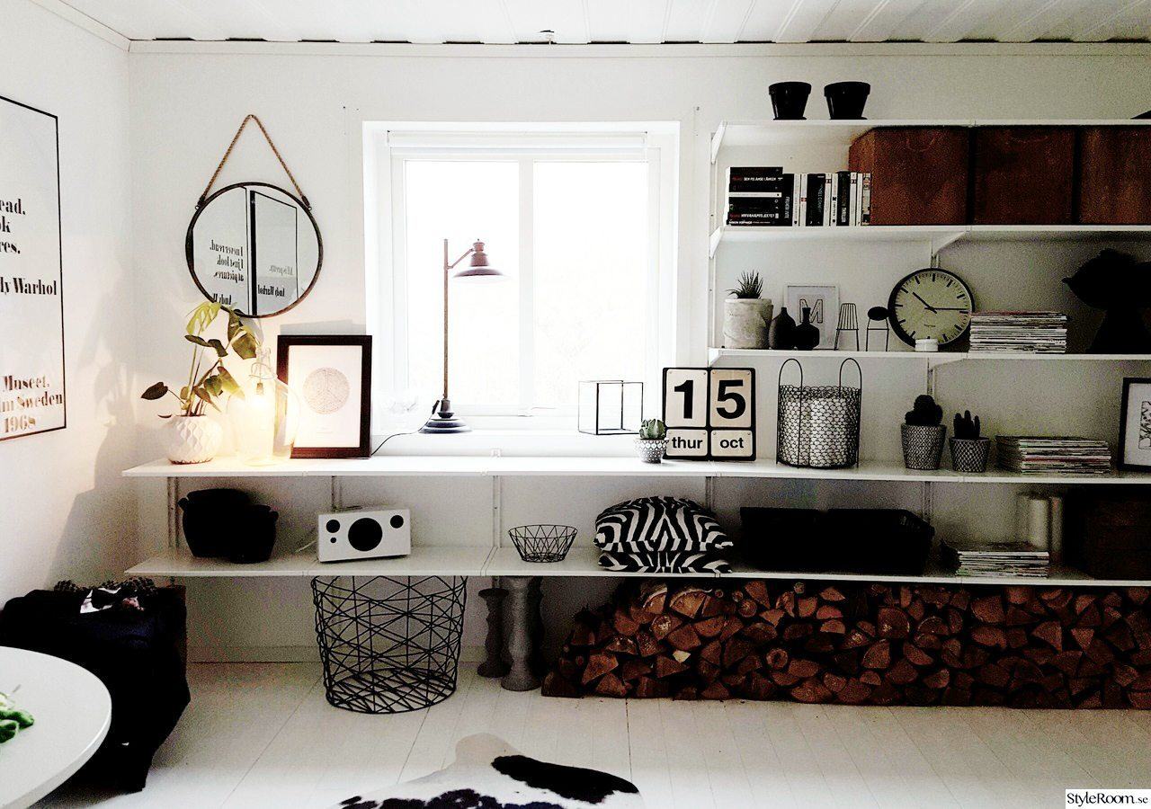 Vedförvaring under hylla – Styleroom – Husligheter