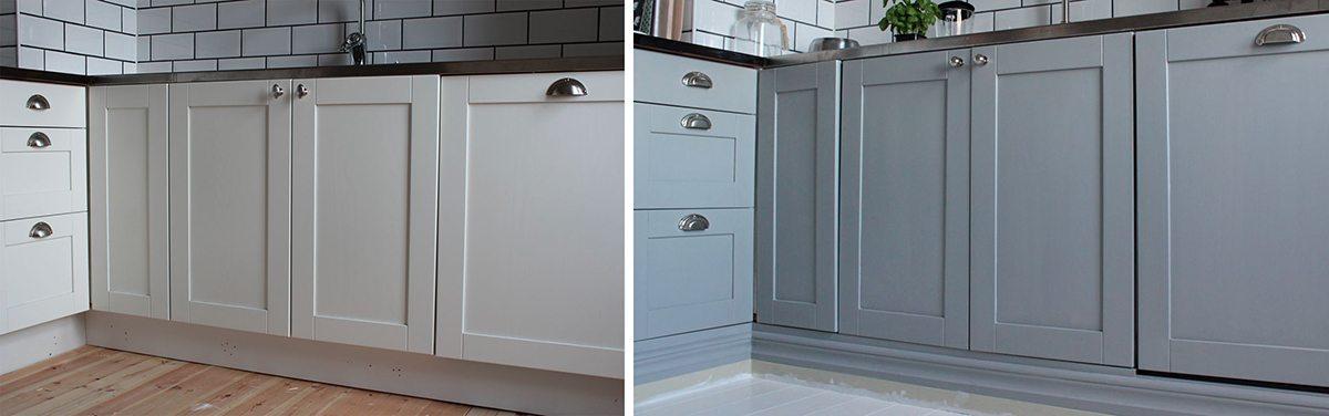 Budgetrenovera köket – måla luckorna med linoljefärg – Tant Johanna/Johanna Bradford – Husligheter