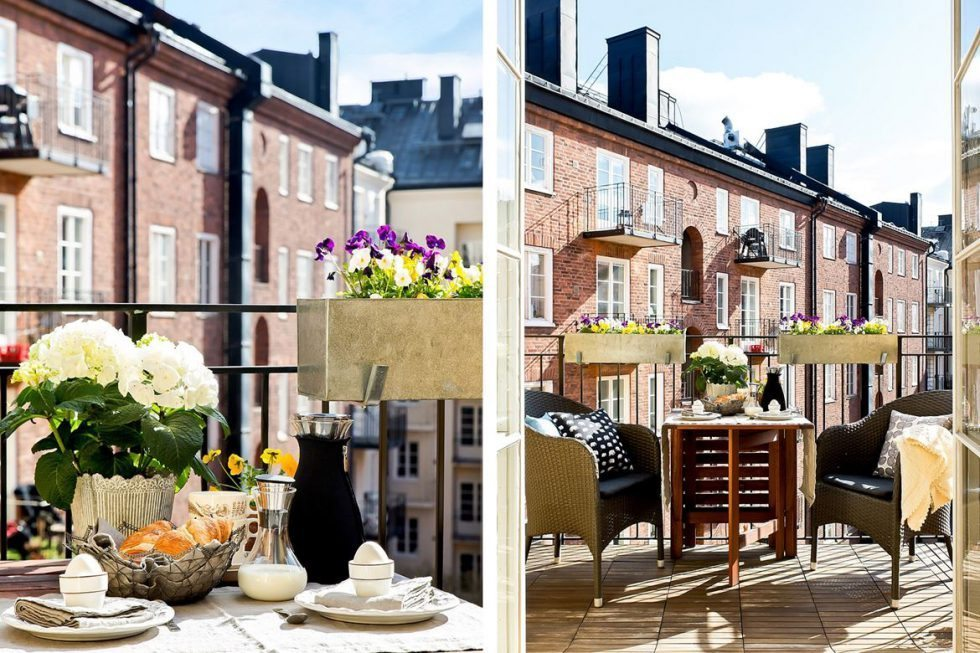 Slagbord på balkongen. Inspiration via Bjurfors – Husligheter