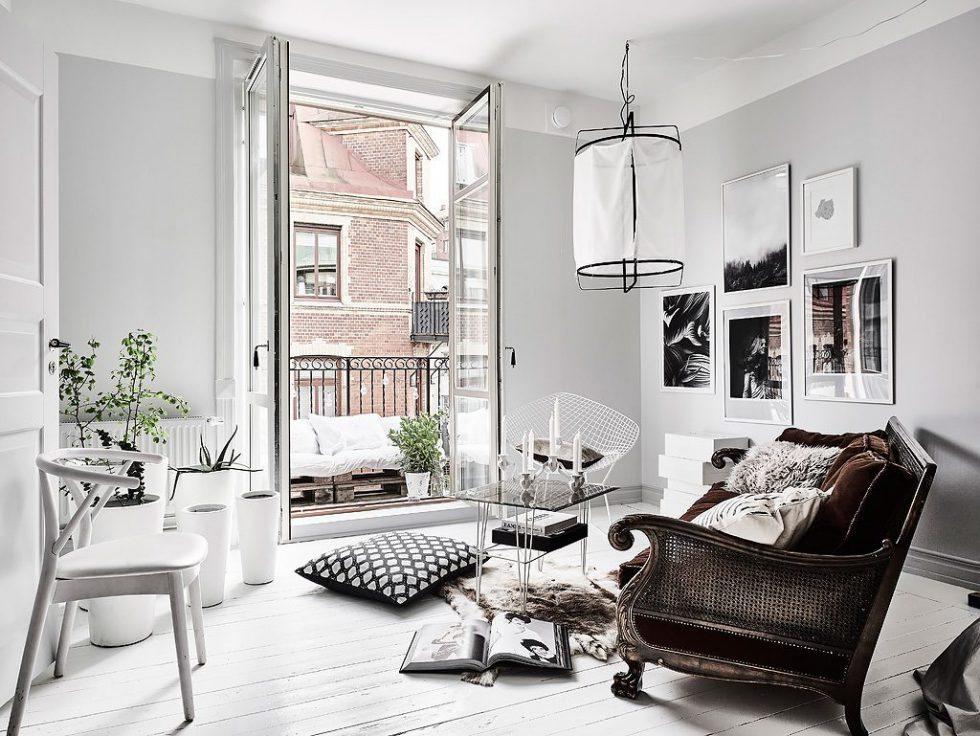 Ställ soffan på snedden mitt i rummet. Foto Anders Bergstedt för Entrance mäkleri – Husligheter
