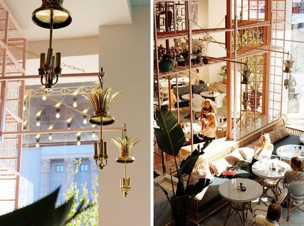 Haymarket by Scandic, rottingmöbler i restaurangen Greta – Husligheter