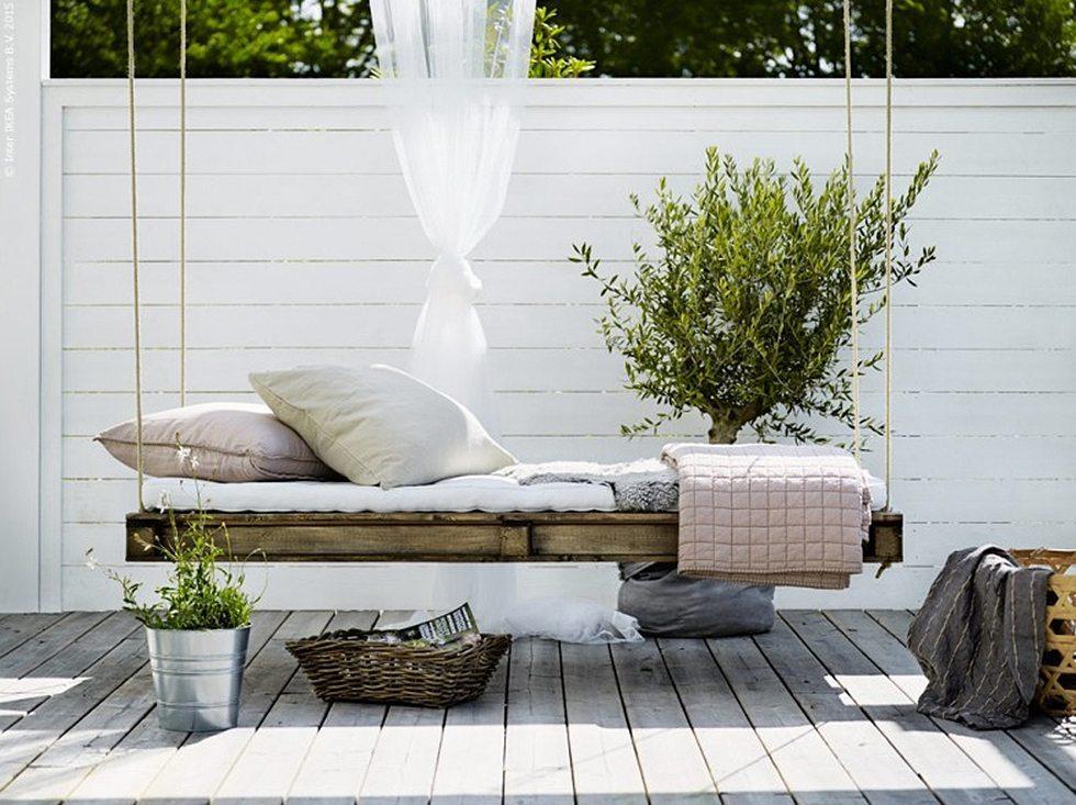 Trädgårdsmöbel eller hängsoffa gjord av lastpallar, Livet hemma – Husligheter