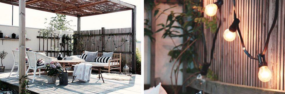 Ljusslinga längs staket eller plank – Husligheter