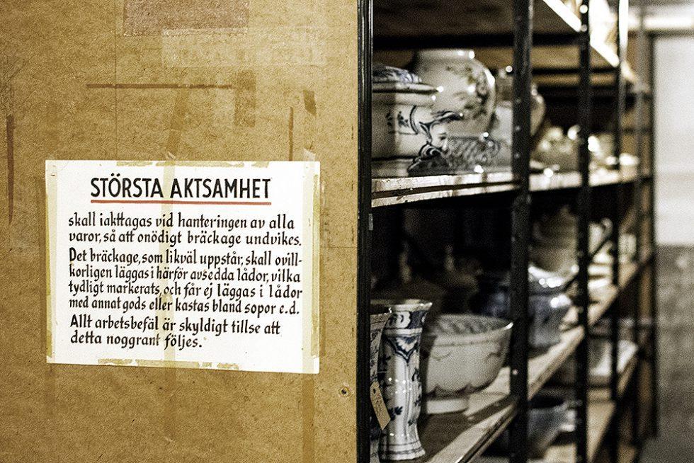 Magasinet med 18 000 föremål på Rörstrand museum – Husligheter
