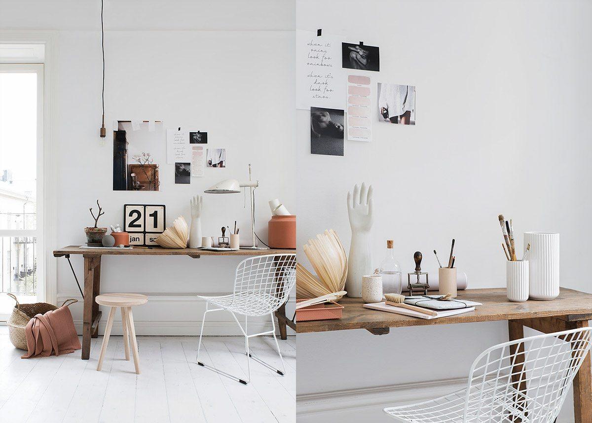 Skrivbord inspiration stilleben Pella Hedeby Sara Medina Lind – Husligheter