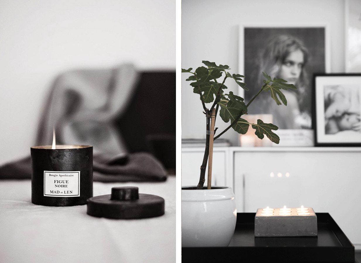 Doftljus, ljusstake, värmeljus – Husligheter