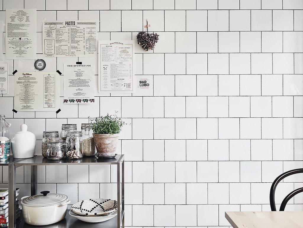 Menyer på väggen, bistrokök – Husligheter