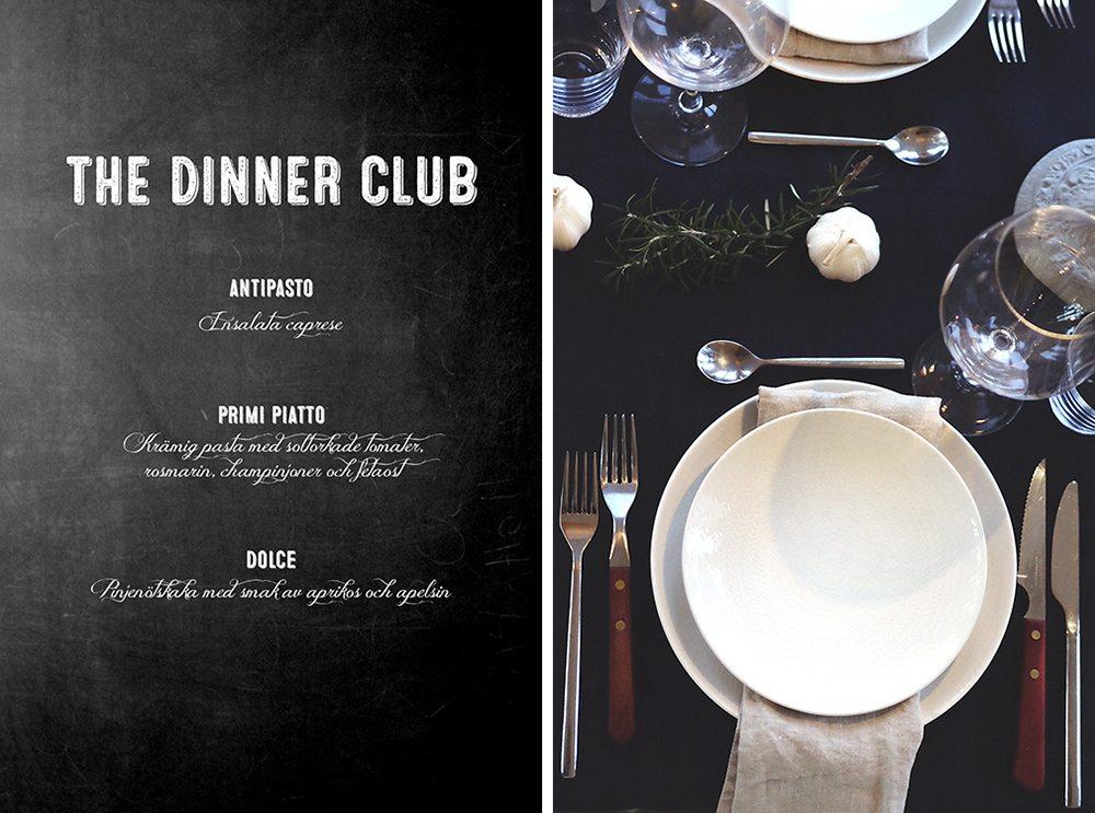 Middagsklubb – dinner club – Husligheter
