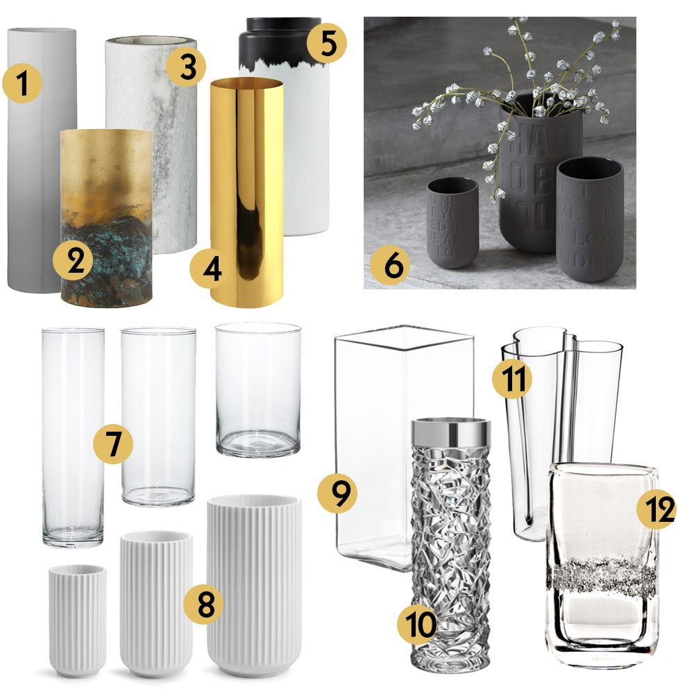 Vasgarderob cylindervaser – Husligheter
