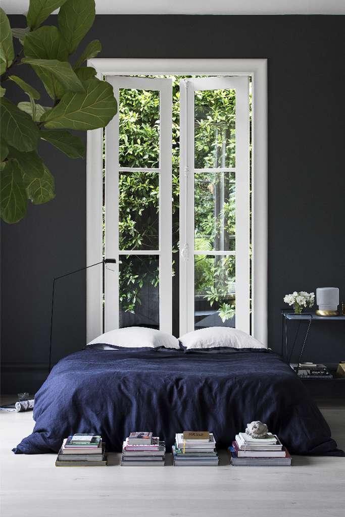 Mörkblått sovrum – Husligheter