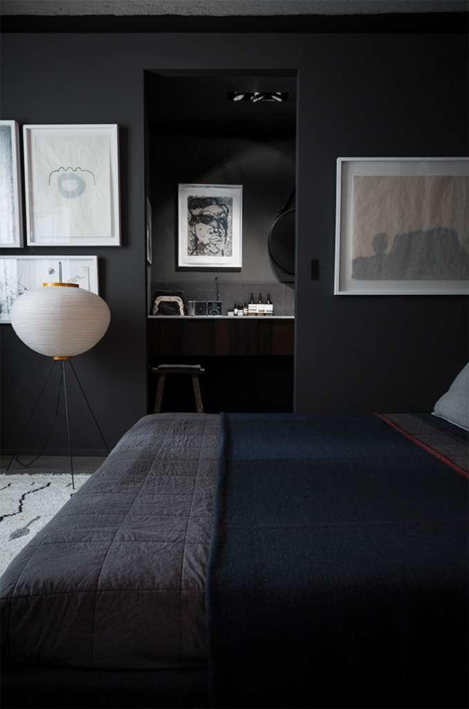 Mörka sovrum på modet u2022 Husligheter