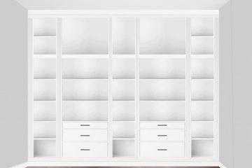 Skiss platsbyggd bokhylla – Husligheter