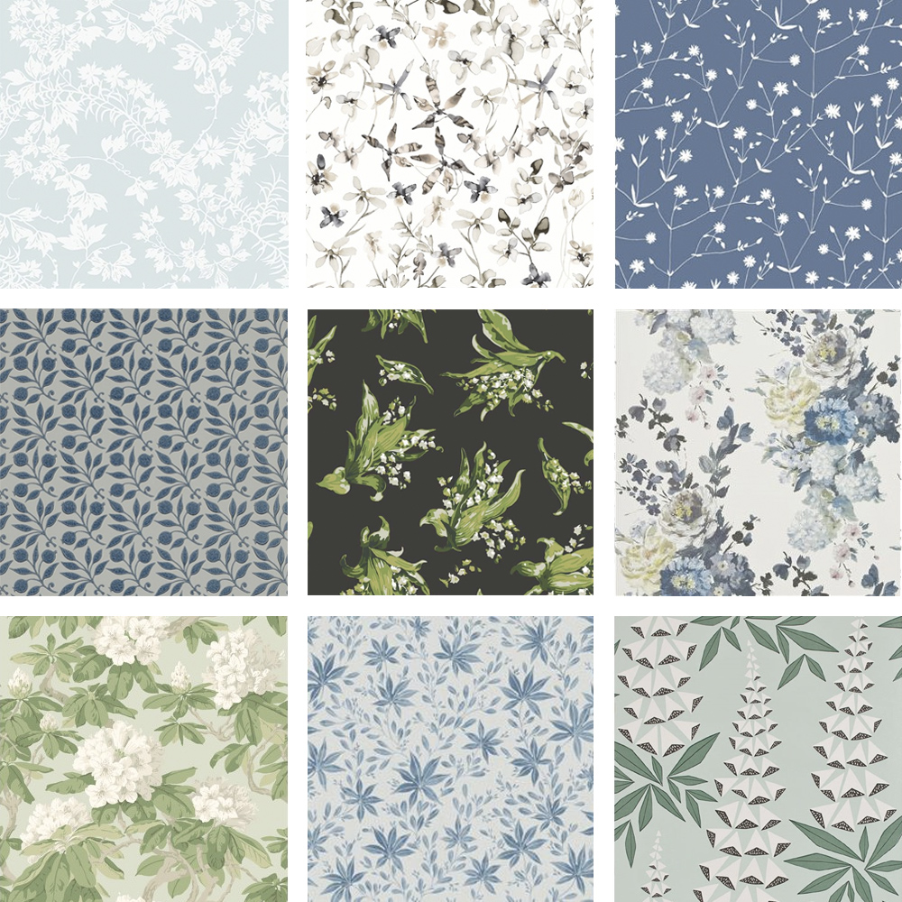 a1bcce9ebc49 Blommigt känns givet så här års, och jag dras alltid åt blått och grönt när  jag letar mönster. Så här är mina tio noga utvalda flora-favoriter!