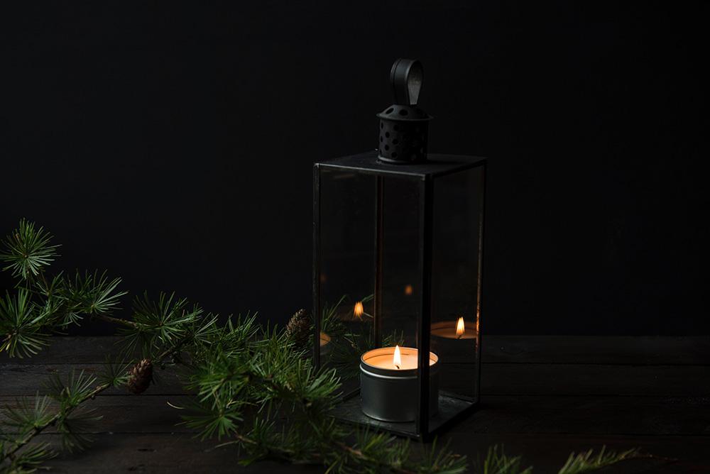 miljövänliga värmeljus och LED-ljusslingor