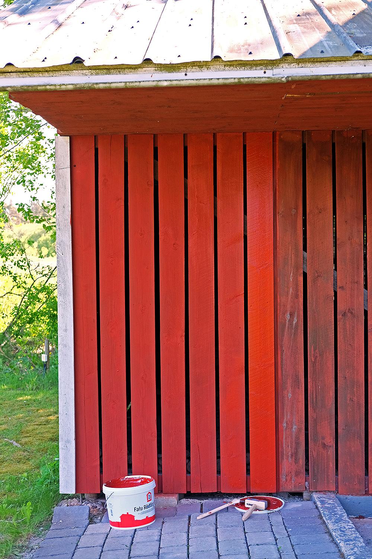 Kända Att måla med en svensk klassiker – så målar man med Falu Rödfärg SZ-09