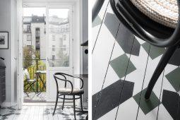 Målat mönster på köksgolv – Husligheter