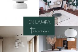 En lampa, tre rum – Formakami