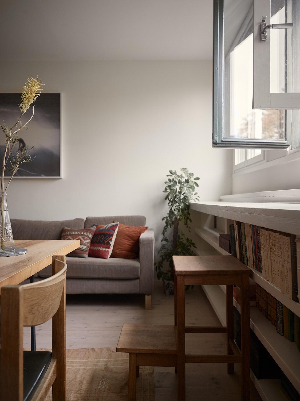 Helt nya Platsbyggda hyllor under fönster • Husligheter FT-99