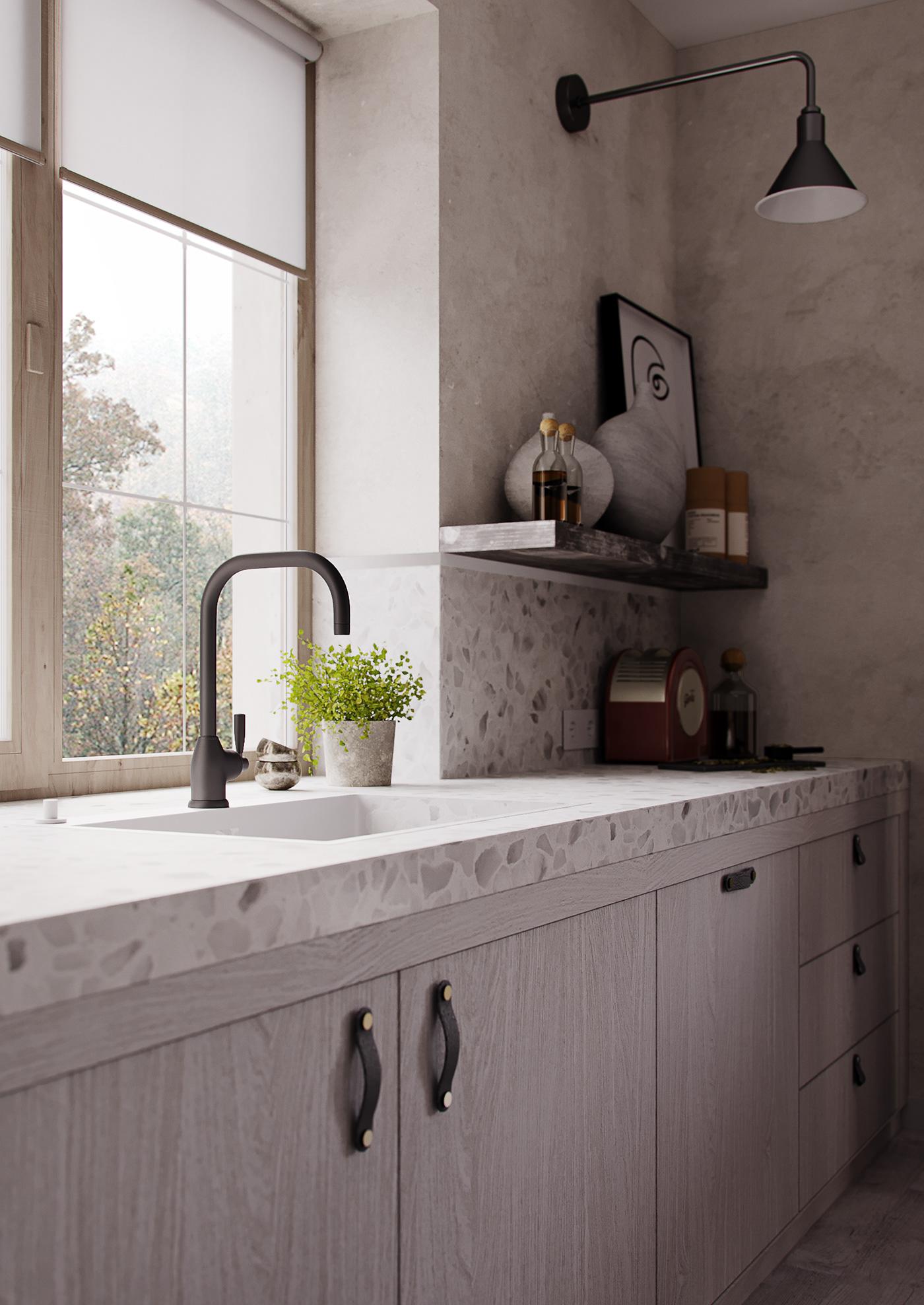 Omtalade Kök med terrazzo och ljust trä • Husligheter SS-12