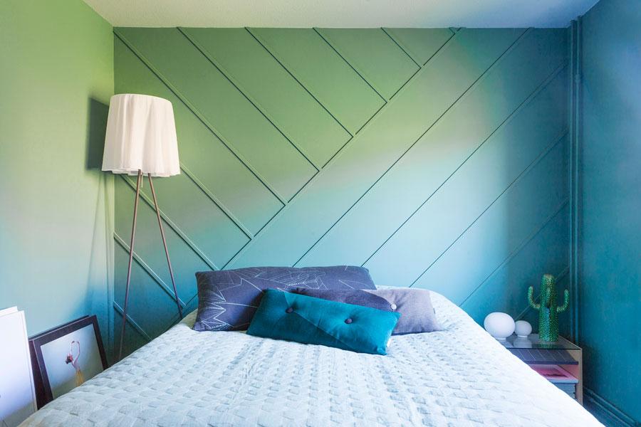 Trälister + färg = enkelt sätt att förändra ett rum