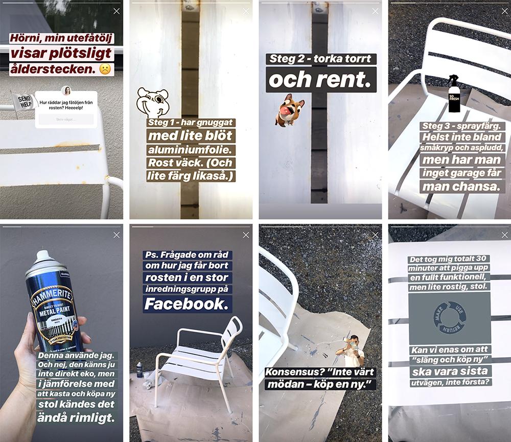 Fixa rost på utemöbler – steg för steg.