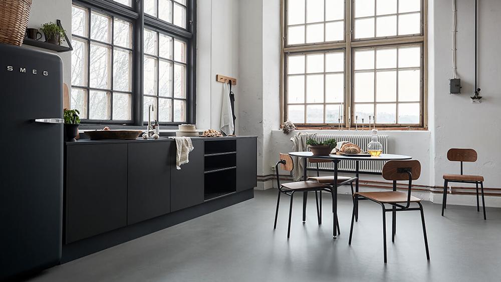 Linoleum är perfekt för köket.
